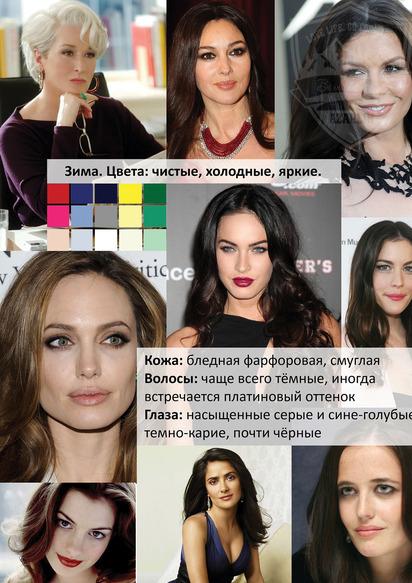 Какие цвета подходят цветотип зима - блог Ирины Бабиной